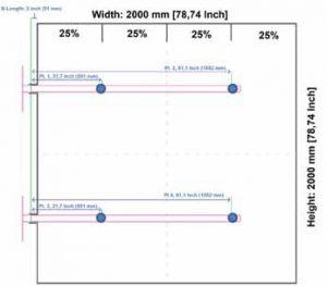 Przykład rozmieszczenia sond dla kanałów prostokątnych