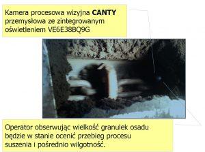 Kamera wizyjna - pomiar wilgotności osadu